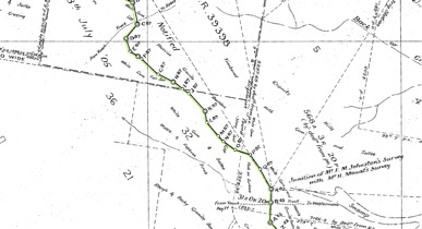 Map of Mouat Tree location