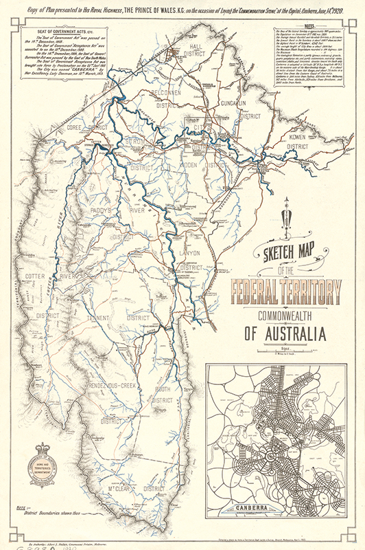 Sketch Map of the Federal Territory dated 1920.